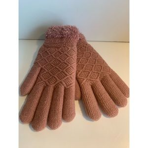 Sonoma Rose/Mauve Colored Cozy Lined Gloves NWT